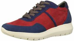 MARC JOSEPH NEW YORK Damen Leather Eva Lightweight Technology Fashion Trainer Sneaker Turnschuh, Rotes Nubuk Multi, 39.5 EU von MARC JOSEPH NEW YORK