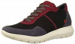 MARC JOSEPH NEW YORK Damen Leather Eva Lightweight Technology Fashion Trainer Sneaker Turnschuh, Schwarz Nubuk Multi, 40 EU von MARC JOSEPH NEW YORK
