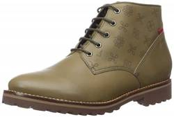 MARC JOSEPH NEW YORK Damen Leather Eva Lightweight Technology Lace Up Bootie Stiefelette, Moosnappa, 39.5 EU von MARC JOSEPH NEW YORK