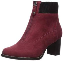 MARC JOSEPH NEW YORK Damen Leather Luxury Ankle Boot with Elastic Detail Stiefelette, Nubuk Rouge, 39.5 EU von MARC JOSEPH NEW YORK