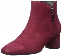 MARC JOSEPH NEW YORK Damen Leather Luxury Ankle Boot with Zipper Stiefelette, Nubuk Rouge, 43 EU von MARC JOSEPH NEW YORK