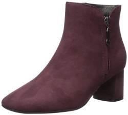 MARC JOSEPH NEW YORK Damen Leather Luxury Ankle Boot with Zipper Stiefelette, Weinnubuk, 36 EU von MARC JOSEPH NEW YORK