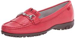 MARC JOSEPH NEW YORK Damen Leder Made in Brazil Lexington Golfschuh, Rot (Strawberry Getrommelkorn), 38 EU von MARC JOSEPH NEW YORK