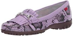 MARC JOSEPH NEW YORK Damen Leder Made in Brazil Lexington Golfschuh, Violett (Lila Viper), 35.5 EU von MARC JOSEPH NEW YORK