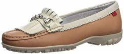 MARC JOSEPH NEW YORK Damen Leder Made in Brazil Lexington Golfschuh, Weiá (Café Cream Graine), 38 EU von MARC JOSEPH NEW YORK