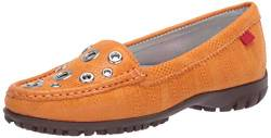MARC JOSEPH NEW YORK Damen Leder Made in Brazil Mott Street Golf Schuh, Orange (Cheddar Glasur/Natursohle), 35.5 EU von MARC JOSEPH NEW YORK