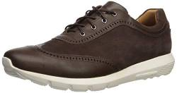 MARC JOSEPH NEW YORK Herren Leather Extra Lightweight Technology Fashion Wingtip Sneaker Turnschuh, Braun Nappa/Wildleder, 42 EU von MARC JOSEPH NEW YORK