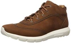 MARC JOSEPH NEW YORK Herren Leather Extra Lightweight Wingtip Ankle Boot Stiefelette, Cappuccino Nubuk, 43 EU von MARC JOSEPH NEW YORK