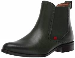 MARC JOSEPH NEW YORK Womens Leather Chelsea Boot with Perforated Detail, Emerald Brushed Nappa, 5 M US von MARC JOSEPH NEW YORK