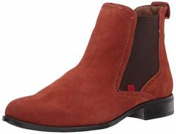 MARC JOSEPH NEW YORK Womens Leather Chelsea Boot with Perforated Detail, Rust Suede, 7 M US von MARC JOSEPH NEW YORK