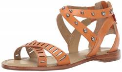 MARC JOSEPH NEW YORK Womens Leather Made in Brazil Sandal, Orange Nappa, 5 M US von MARC JOSEPH NEW YORK