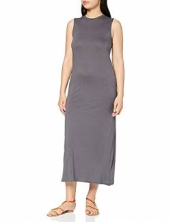 Amazon-Marke: MERAKI Damen Slim Fit Jersey Maxikleid, Grau (Grey Blackened Perl), 36, Label: S von MERAKI