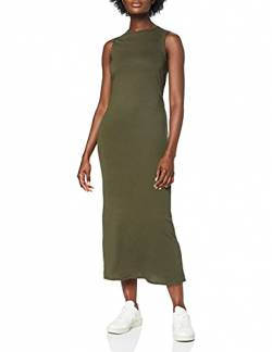 MERAKI Damen Slim Fit Jersey Maxikleid, Grün (Green), Medium von MERAKI