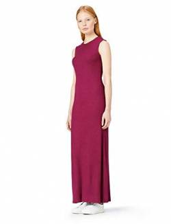 Amazon-Marke: MERAKI Damen Slim Fit Maxikleid mit Feinripp, Rot (Red Tawny Port), 38, Label: M von MERAKI
