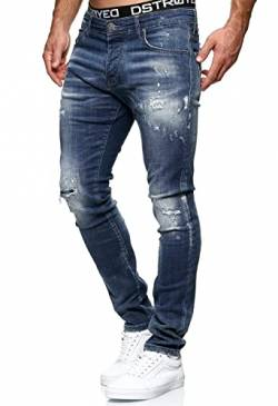 MERISH Jeans Herren Destroyed Hose Jeanshose Männer Slim Fit Stretch Denim 2081-1001 (34-32, 1507 Blau) von MERISH