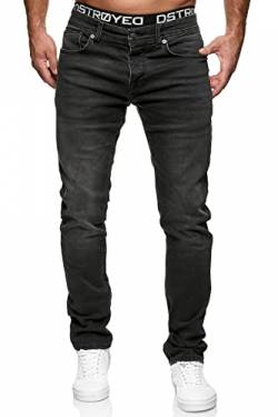 MERISH Jeans Herren Slim Fit Jeanshose Stretch Designer Hose Denim 1501 (32-34, 504-4 Schwarz) von MERISH