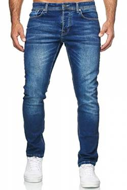 MERISH Jeans Herren Destroyed Hose Jeanshose Männer Slim Fit Stretch Denim 2081-1001 (33-30, 504-1 Blau) von MERISH