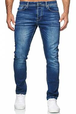 MERISH Jeans Herren Destroyed Hose Jeanshose Männer Slim Fit Stretch Denim 2081-1001 (36-34, 504-1 Blau) von MERISH