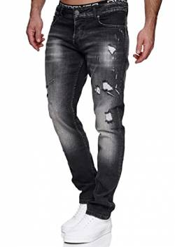 MERISH Jeans Herren Slim Fit Jeanshose Stretch Denim Designer Hose 1507 (31-32, 1506-4 Anthrazit) von MERISH