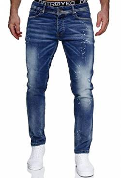 MERISH Jeans Herren Slim Fit Jeanshose Stretch Denim Designer Hose 1507 (32-32, 1507-4 Denim) von MERISH