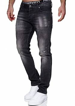 MERISH Jeans Herren Slim Fit Jeanshose Stretch Denim Designer Hose 1507 (34-32, 1507-5 Anthrazit) von MERISH
