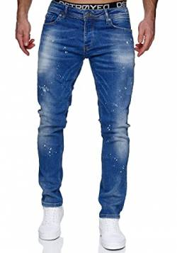 MERISH Jeans Herren Slim Fit Jeanshose Stretch Denim Designer Hose 1507 (36-32, 1507-1 Hellblau) von MERISH