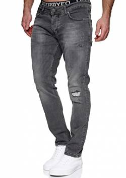 MERISH Jeans Herren Slim Fit Jeanshose Stretch Denim Designer Hose 1507 (36-34, 1506-3 Grau) von MERISH