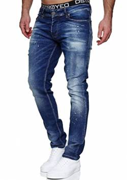 MERISH Jeans Herren Slim Fit Jeanshose Stretch Denim Designer Hose 1507 (38-32, 1507-3 Dunkelblau) von MERISH