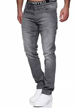 MERISH Jeans Herren Slim Fit Jeanshose Stretch Denim Hose Designer 1512 (33-32, 1512-04 Grau) von MERISH