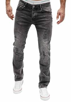 MERISH Jeans Herren Slim Fit Jeanshose Stretch Designer Hose Denim (32-30, 501-5 Anthrazit) von MERISH