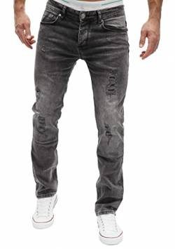 MERISH Jeans Herren Slim Fit Jeanshose Stretch Designer Hose Denim (38-32, 501-5 Anthrazit) von MERISH