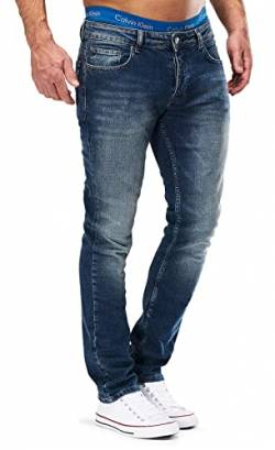 MERISH Jeans Herren Slim Fit Jeanshose Stretch Designer Hose Denim 501 (32-32, 501-4 Blau JJ) von MERISH