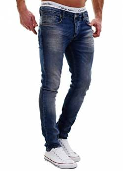 MERISH Jeans Herren Slim Fit Jeanshose Stretch Designer Hose Denim 501 (34-32, 501-3 Denim) von MERISH