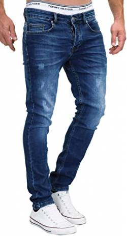 MERISH Jeans Herren Slim Fit Jeanshose Stretch Designer Hose Denim 501 (34-34, 501-1 Dunkelblau) von MERISH