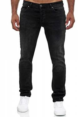 MERISH Jeans Herren Slim Fit Jeanshose Stretch Designer Hose Denim 502 (33-32, 502-3 Schwarz) von MERISH