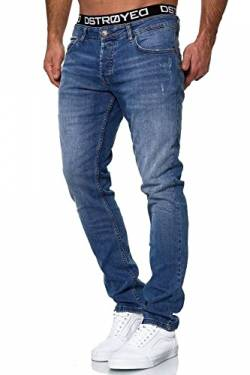 MERISH Jeans Herren Slim Fit Jeanshose Stretch Designer Hose Denim 1501 (32-32, 503-2 Blau) von MERISH