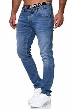 MERISH Jeans Herren Slim Fit Stretch Jeanshose Designer Hose Denim 9148-2100 (34-30, 503-1 Hellblau) von MERISH