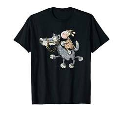 Schaf Reitet Wilden Wolf I Lustiges Tiermotiv I Fun Comic T-Shirt von MODARTIS - Lustige Cartoon Fun T-Shirts