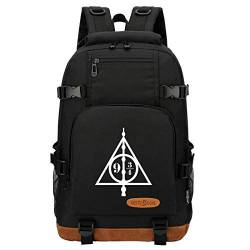 Teenager Casual Daypack, Outdoor Canvas University Travel Wasserresistenter Rucksack, Harry P Hogwarts Wochenendtasche 18 Zoll Typ-21 von MOLUOGE