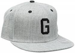 MSTRDS Jungen Letter Snapback G Kids Kappe, G Heather Grey, Youth von MSTRDS