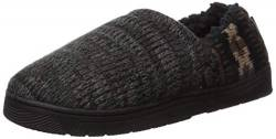 MUK LUKS Herren Men's Christopher Slippers Slipper, Ebenholz/Dunkelgrau, Medium von MUK LUKS
