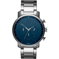 MVMT Midnight Silver Chrono Herrenuhr MC01-SBLU von MVMT