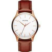 MVMT Rose Gold Natural Tan 40 Series Herrenuhr MT01-WBR von MVMT