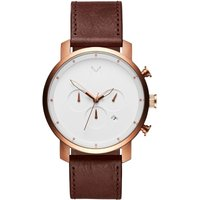 MVMT Rose Gold Natural Tan Chrono Herrenuhr MC01-RGDBR von MVMT