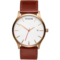 MVMT Rose Gold Natural Tan Classic Herrenuhr MM01-WBR von MVMT