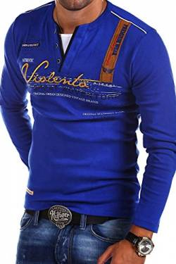 MT Styles 2in1 Longsleeve Adventure T-Shirt R-0663 [Blau, L] von MYTRENDS Styles