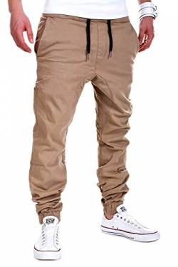 MT Styles Harem Jogger Chino-Hose C-60 [Beige, W30] von MYTRENDS Styles