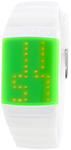 MADISON NEW YORK Unisex-Armbanduhr Candy Club Digital Automatik Silikon U4614-10 von Madison New York