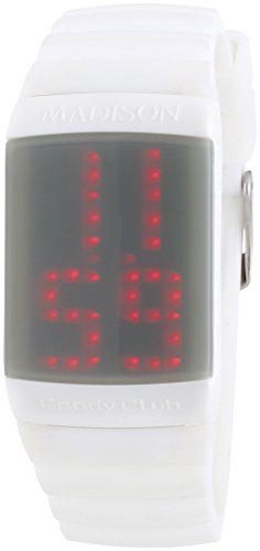 MADISON NEW YORK Unisex-Armbanduhr Candy Club Digital Automatik Silikon U4614-70 von Madison New York