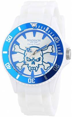 MADISON NEW YORK Unisex-Armbanduhr Candy Time Stay Alive Analog Quarz Silikon U4618-06 von Madison New York